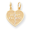 10k 2 Piece Break-Apart Best Friend Heart Charm