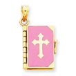 14K Enameled Lord's Prayer Bible Pendant