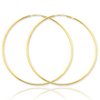 14K Gold  1.5x57mm Polished Round Endless Hoop Earrings