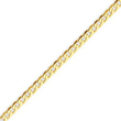 14K Gold 2.4mm Beveled Curb Chain