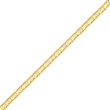 14K Gold 3.75mm Concave Anchor Chain