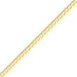 14K Gold 3.8mm Concave Curb Chain