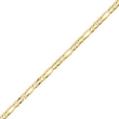 14K Gold 3mm Concave Open Figaro Chain