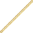14K Gold  4.5mm Concave Anchor Chain