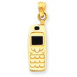 14K Gold  Enameled Cell Phone Pendant