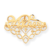 14K Gold Mother Pin & Charm Holder