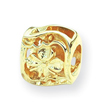 14K Gold Reflections Clover Bead