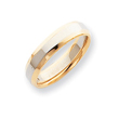 14k Two-Tone 5mm Domed Wedding Band
