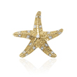 14K  Two-Tone Gold  Diamonds Sea Star Pendant