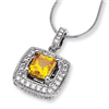 14kw Emma Grace Princess Cultured Diamond 16in Pendant