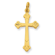 18K Plated Sterling Silver  Cross Charm