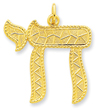 24k Gold-plated Sterling Silver Chai Pendant