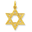 24k Gold-plated Sterling Silver Star of David Charm