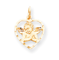 Jewelry - 10k ANGEL HEART CHARM.