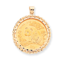 Jewelry - 14k 1 oz Mounted Panda Coin Bezel Pendant.