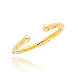Jewelry - 14K Gold Bead Toe Ring.