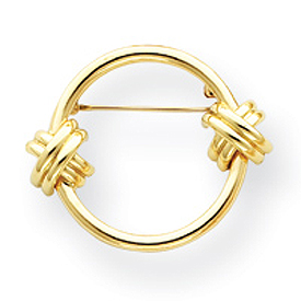Jewelry - 14K Gold Circle Pin.