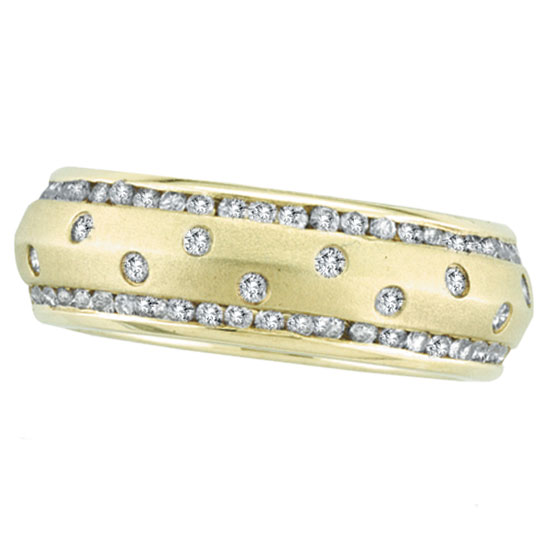 Jewelry - 14K Gold Diamond Ring Eternity Band.