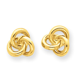 Jewelry - 14K Gold Love Knot Earrings.