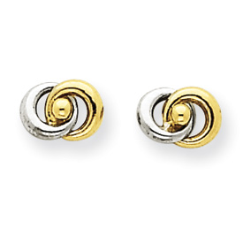 Jewelry - 14K Gold & Rhodium Love Knot Earrings.