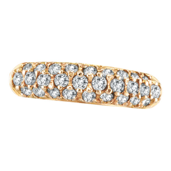 Jewelry - 14K Rose Gold .81ct Diamond Fashion Ring.