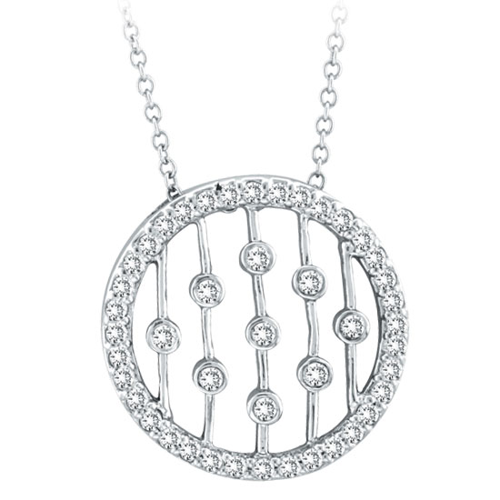 Circle Necklace on Diamond Eternity Circle Necklace    Necklaces