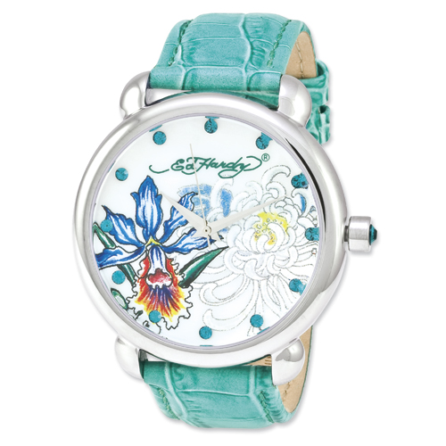 Jewelry - Ed Hardy Garden Green Watch.