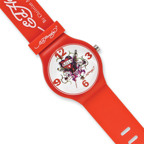 Jewelry - Ed Hardy Spectrum Red Watch.