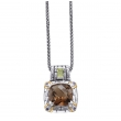 Alesandro Menegati 14K Accented Sterling Necklace with Smoky Quartz/Peridot/Iolites
