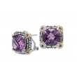 Alesandro Menegati 14K Accented Sterling Silver Earrings with Amethyst and Iolite