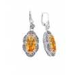 Alesandro Menegati 14K Accented Sterling Silver Earrings with Citrine and White Topaz