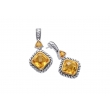 Alesandro Menegati 14K Accented Sterling Silver Earrings with Citrines
