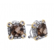 Alesandro Menegati 14K Accented Sterling Silver Earrings with Smoky Quartz and Iolites