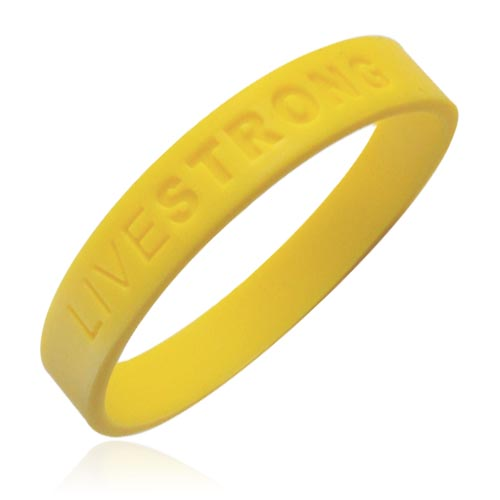 Jewelry - Official Live Strong Lance Armstrong Yellow Cancer LIVESTRONG Rubber Wristband Bracelet.