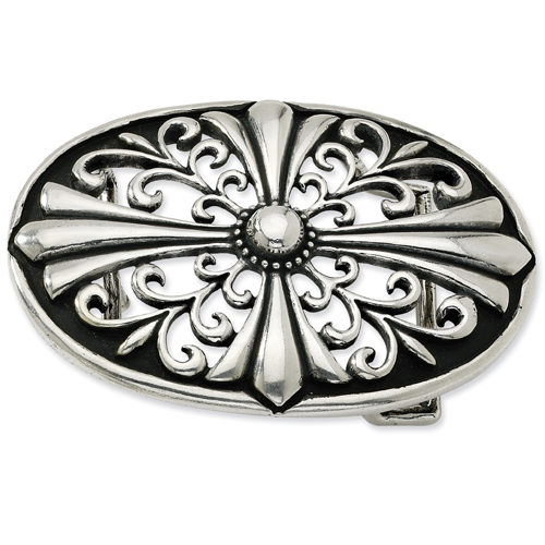 Jewelry - Sterling Silver Antiqued Belt Buckle.