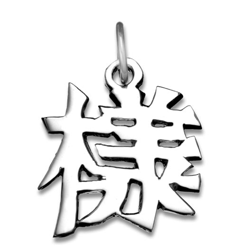 "Jewelry - Sterling Silver ""Appearance"" Kanji Chinese Symbol Charm."