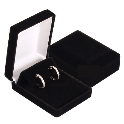 Jewelry - Velvet Black Earrings Box.
