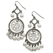Black-Plated And Silver-Tone Chandelier Earrings