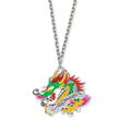 Ed Hardy Cubic Zirconia Painted Dragon 24in Necklace