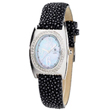 Ladies' Charles Hubert Black Stingray Band Diamond Watch