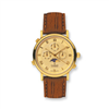 Mens Charmex Gold-plated Swiss Quartz Analog Watch