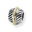 Sterling Silver & 14K Gold Reflections Bali Bead