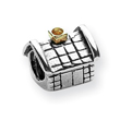 Sterling Silver & 14k Gold Reflections House Bead