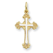 Sterling Silver 18K Gold Plated Cross Charm