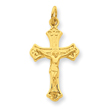 Sterling Silver & 24k Gold -plated Crucifix Charm