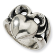 Sterling Silver Antiqued Heart Ladies Ring