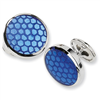 Sterling Silver Blue Resin Fancy Cuff Links