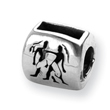Sterling Silver Reflections Gemini Zodiac Antiqued Bead