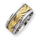 Sterling Silver & Vermeil Inner Channel Spinning Band
