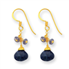 Sterling Silver & Vermeil Sapphire/ & iolite Earrings
